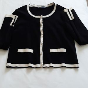 Zara with faux buttons cardigan S